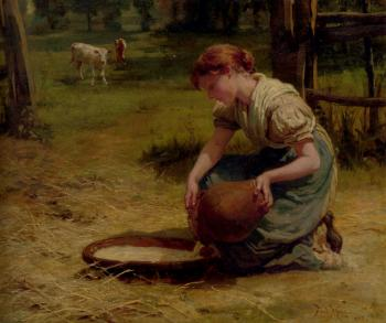 Frederick Morgan : Milk For The Calves