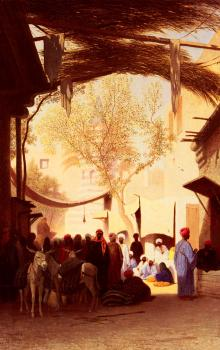 Charles Theodore Frere : A Market Place, Cairo