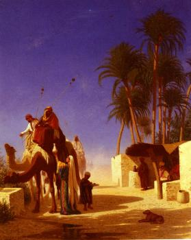Charles Theodore Frere : Camel Drivers Drinking from the Wells