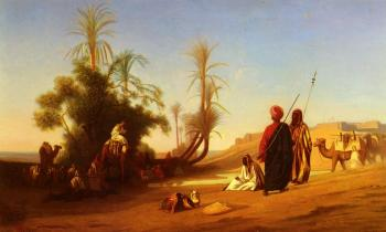 Charles Theodore Frere : Rest at the Oasis