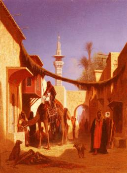 Charles Theodore Frere : Street In Damascus and Street In Cairo II