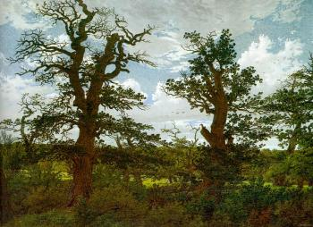 Landscape with Oak Trees and a Hunter