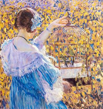 Frederick Carl Frieseke : The BirdCage