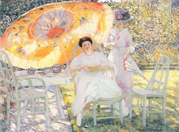 Frederick Carl Frieseke : The Garden Parasol