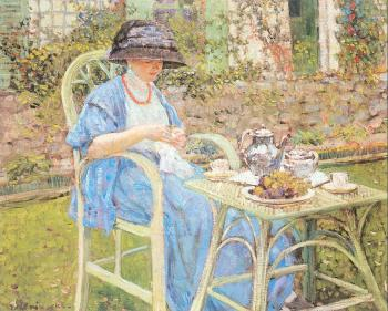 Frederick Carl Frieseke : Breakfast in the Garden