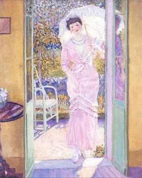 Frederick Carl Frieseke : In the Doorway (Good Morning)