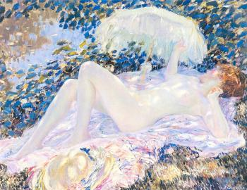 Frederick Carl Frieseke : Venus in the Sunlight
