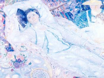 Frederick Carl Frieseke : The Hammock
