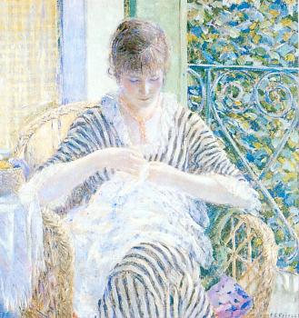 Frederick Carl Frieseke : On the Balcony