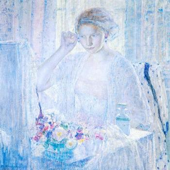 Frederick Carl Frieseke : Girl with Earrings
