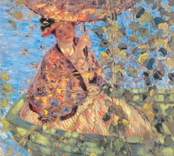 Frederick Carl Frieseke : Through the Vines