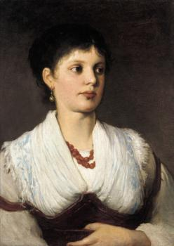 Gabriel Cornelius Ritter Von Max : A portrait of a woman in native costume