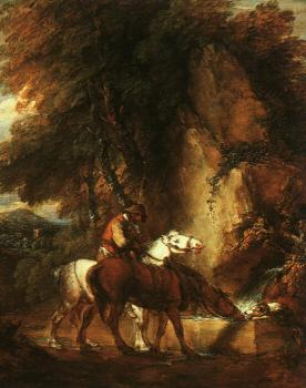 Wooded Landscape with Mounted Drover