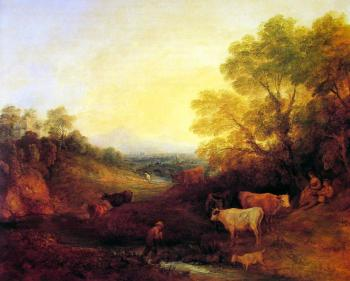 Thomas Gainsborough : Landscape with Cattle