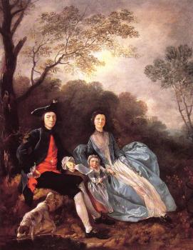 Thomas Gainsborough : Portrait of the Artist with his Wife and Daughter