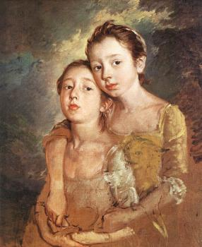 Thomas Gainsborough : The Artist's Daughters with a Cat II