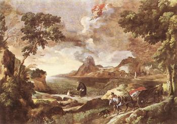 Gaspard Dughet : Landscape with St Augustine and the Mystery