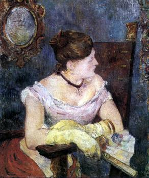 Paul Gauguin : Mette Gauguin in an Evening Dress