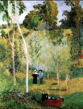 Paul Gauguin : Conversation in the pasture, Pont-Aven