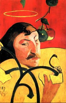 Paul Gauguin : Self-Portrait with Halo