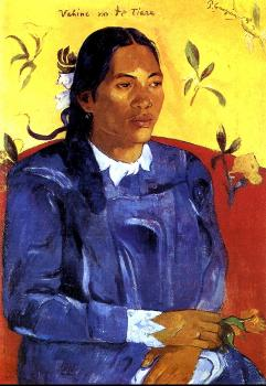 Paul Gauguin : Woman with a Flower