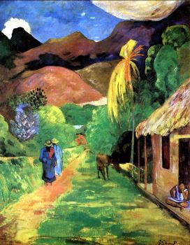Paul Gauguin : Street in Tahiti