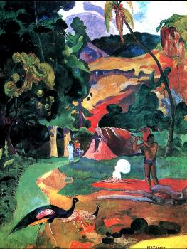 Paul Gauguin : Matamoe (Landscape with Peacocks)