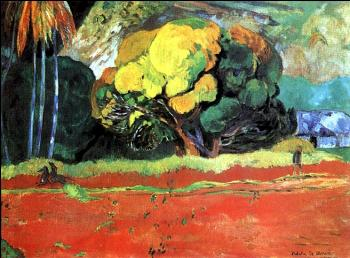 Paul Gauguin : At the Foot of a Mountain