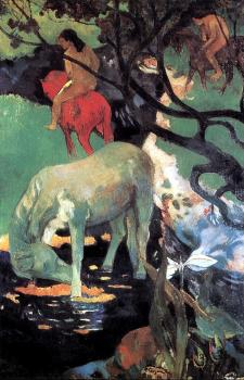 Paul Gauguin : The White Horse
