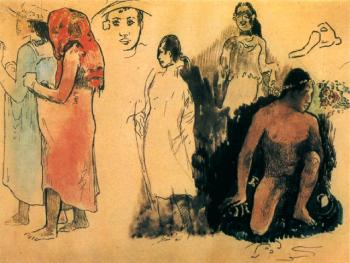 Paul Gauguin : Watercolor 20