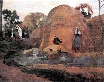 Paul Gauguin : Yellow Haystacks, the Harvest