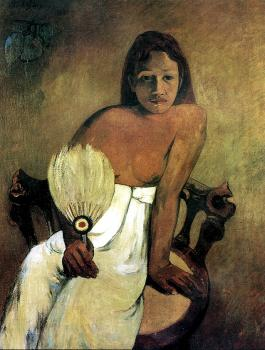 Paul Gauguin : Young Girl With Fan