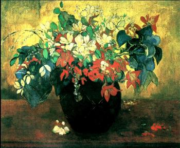 Paul Gauguin : Vase of flowers