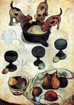 Paul Gauguin : Still Life with Three Puppies