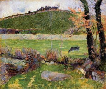Paul Gauguin : A Meadow on the Banks of the Aven