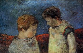 Paul Gauguin : Aline Gauguin and One of Her Brothers