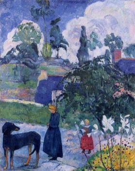 Paul Gauguin : Among the Lillies