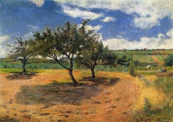 Paul Gauguin : Apple Trees at l'Hermitage