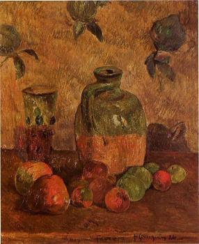 Paul Gauguin : Apples, Jug, Iridescent Glass