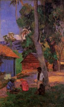 Paul Gauguin : Around the Huts