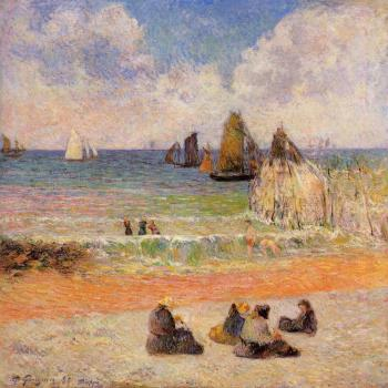 Paul Gauguin : Bathing, Dieppe