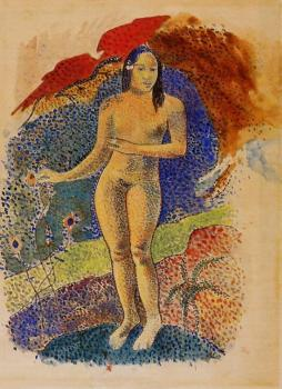 Paul Gauguin : Beautiful Land, Tahitian Eve