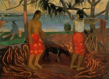 Paul Gauguin : Beneath the Pandanus Tree