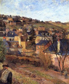 Paul Gauguin : Blue Roofs, Rouen