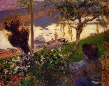Paul Gauguin : Breton Boy by the Aven River