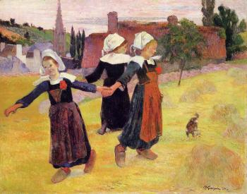 Paul Gauguin : Breton Girls Dancing II