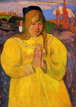 Paul Gauguin : Breton Woman in Prayer