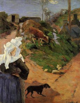 Paul Gauguin : Breton Women at the Turn