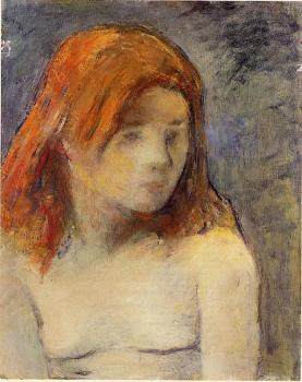 Paul Gauguin : Bust of a Nude Girl