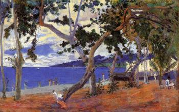Paul Gauguin : By the Seashore